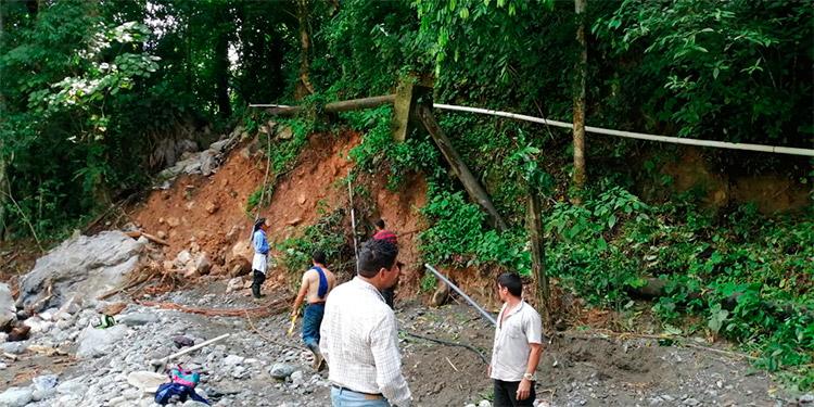 Tormentas dañaron el sistema de agua potable