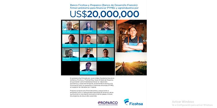 Banco Ficohsa y Proparco (Banco de Desarrollo Francés) firman préstamo por US$ 20millones