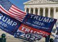 Seguidores de Trump protestan frente al máximo tribunal de EEUU