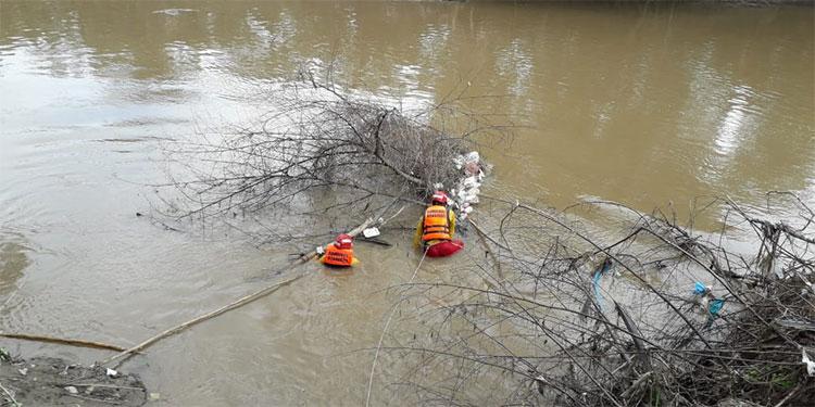 En el curso del río Chamelecón, cerca de la aldea El Higuero, fue localizado el cadáver.