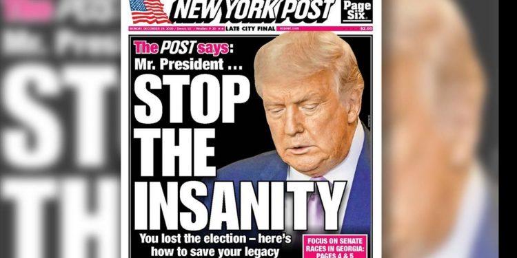 """New York Post: """"Señor presidente... Detenga la locura"""
