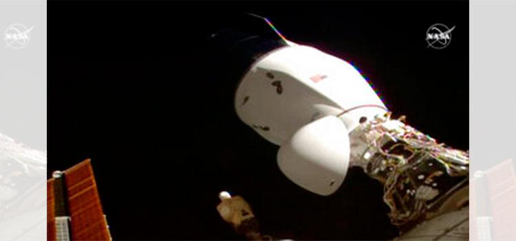 Cápsula de SpaceX con festín navideño a bordo llega a la EEI