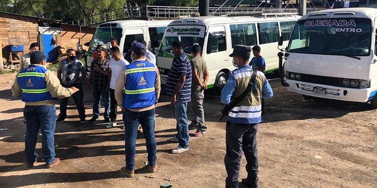 Sancionan 50 buses y taxis sin bioseguridad