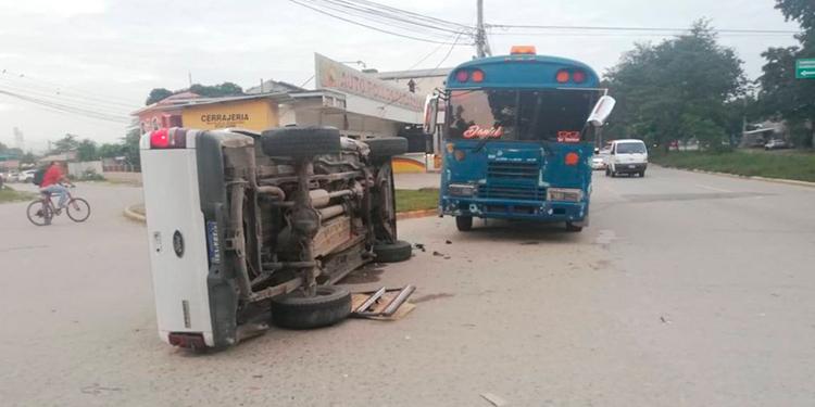 Dos accidentes de transito se registran en San Pedro Sula