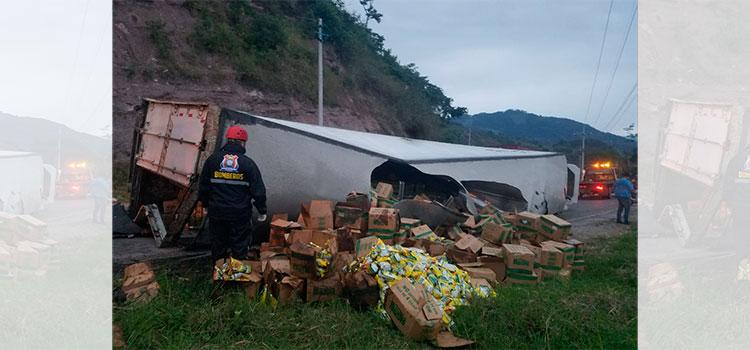 Volcamiento deja una persona herida en Santa Rosa de Copán