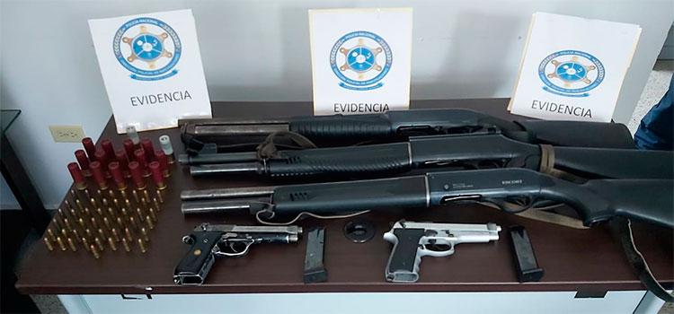 Capturan a olanchano en posesión de varias armas de fuego