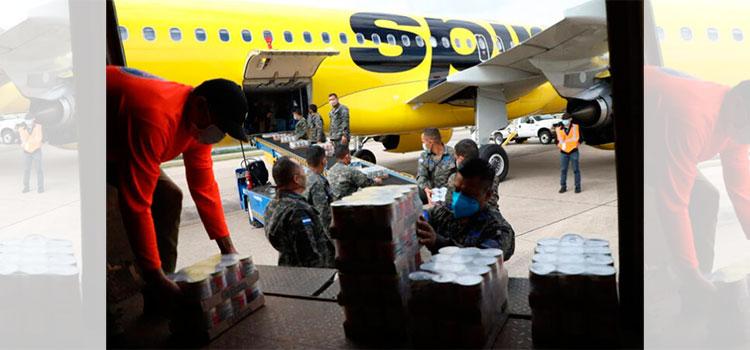 Llegan a Honduras 8 toneladas de ayuda para los afectados por Eta e Iota