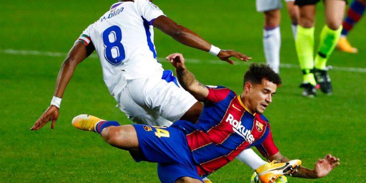 Barcelona despide el 2020 con empate ante el Eibar