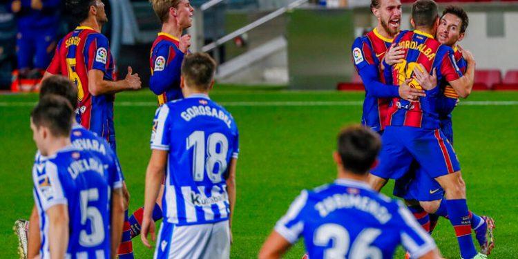 Barcelona sufrió para derrotar a la Real Sociedad