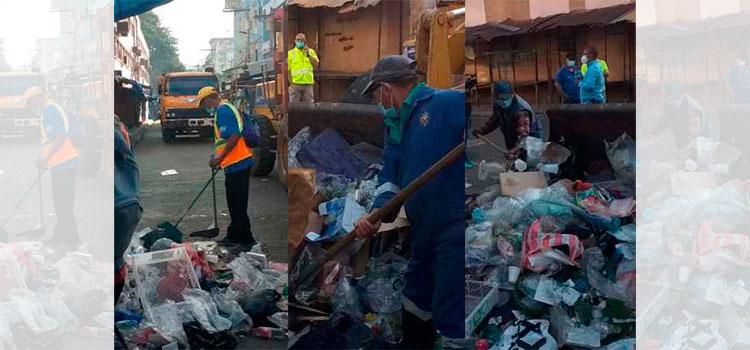 Repletos de basura amanecen los mercados de la capital