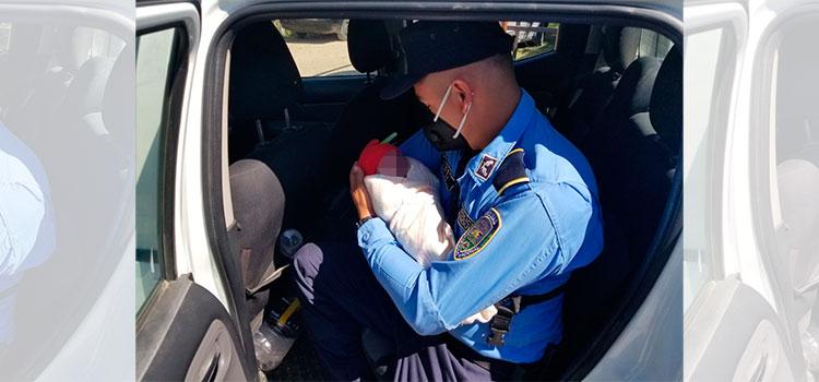 En patrulla policial nace bebé en Ocotepeque