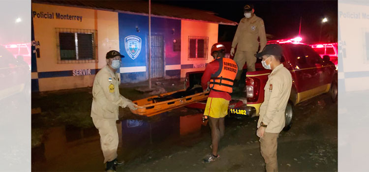Bomberos recuperan cadáver en Choloma