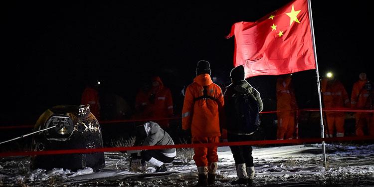 China trae a la Tierra muestras de la Luna, por primera vez en 44 años