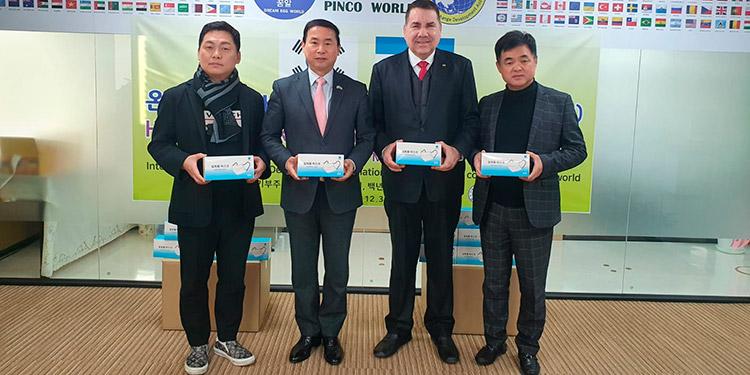 Empresa coreana realiza segunda donación de mascarillas a Honduras