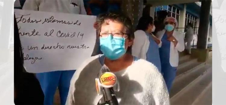 Enfermeras del Hospital Escuela protestan exigiendo permanencia de los contratos