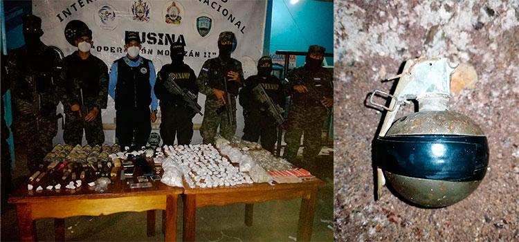 Granada, armas y drogas decomisan en centro penal de La Ceiba