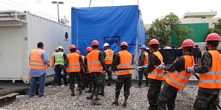 Hospital móvil de Tegucigalpa ya fue concluido