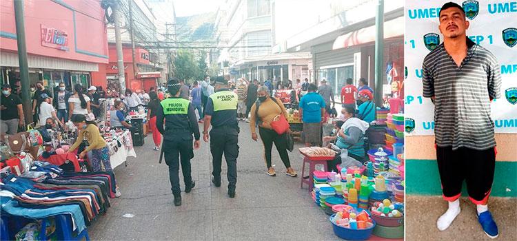 Capturan infraganti a supuesto asaltante en Tegucigalpa