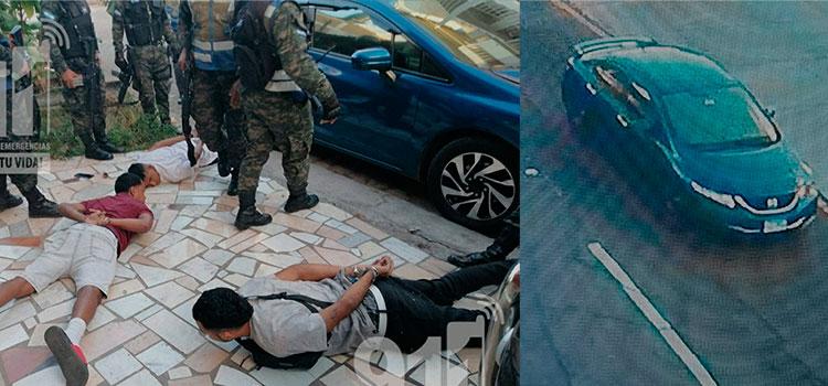 Cámaras del 911 captan persecución a banda de asaltantes en Tegucigalpa