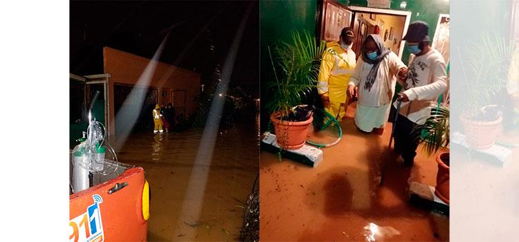 Lluvias por segundo frente frío deja primeros evacuados en La Ceiba