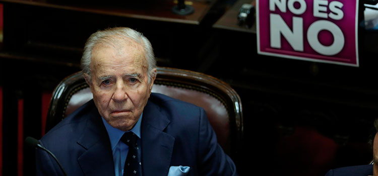 """Expresidente argentino Menem está """"complicado pero luchando"""" en el hospital"""