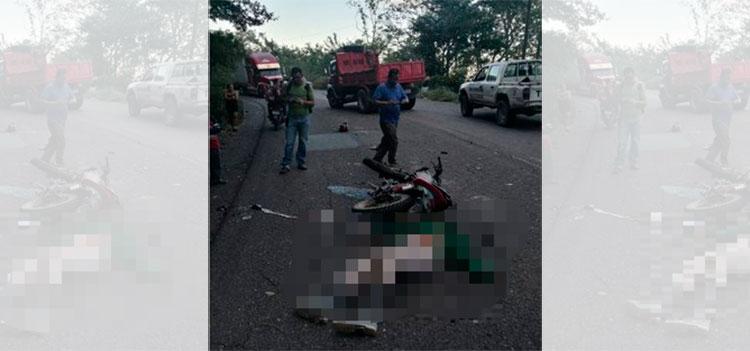 Motociclista muere tras impactar con una volqueta en San Marcos de Colón