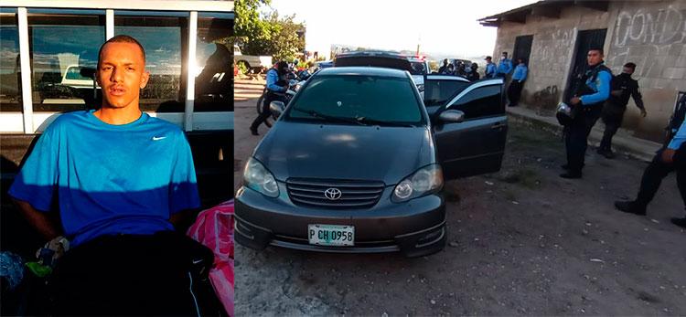 Tras persecución capturan a presunto pandillero con vehículo robado en la capital