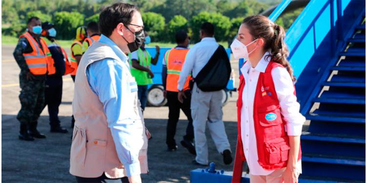 Presidente Hernández da bienvenida a Reina Letizia y agradece ayuda