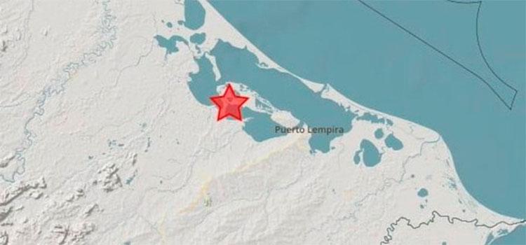 Sismo de 5.5 grados sacude el oeste de Puerto Lempira