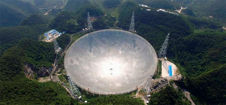 China inaugurará en enero de 2021 el mayor radiotelescopio del mundo