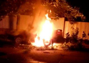 """""""¡Auxilio, auxilio, auxilio!"""", gritaba desesperado el joven mientras era calcinado por las llamas que lo quemaron dentro del automóvil."""