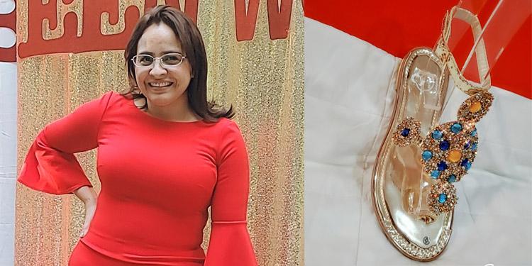 """La """"catracha"""" Bessy Soto logró superar las secuelas de la violencia doméstica y hoy es una exitosa emprendedora del calzado."""