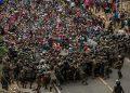 Los militares guatemaltecos los gasearon y toletearon a los migrantes.