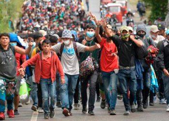Los miembros de esta última caravana aseguraron que huyen de la pobreza, la violencia y de la crisis.