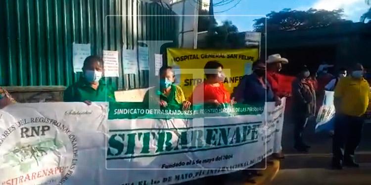 Plataforma Sindical exige apertura del Hospital Móvil de Tegucigalpa