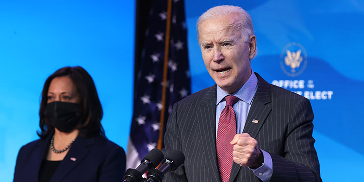 El presidente electo de EE.UU., Joe Biden, celebró que el mandatario saliente, Donald Trump, no vaya a asistir a su investidura el próximo 20 de enero. (LASSERFOTO AFP)