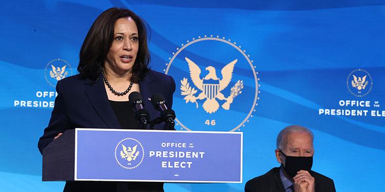 """La vicepresidenta electa de Estados Unidos, Kamala Harris, dijo que el nuevo gobierno demócrata """"tiene planeado"""" presentar al Congreso un proyecto de reforma migratoria.  (LASSERFOTO AFP)"""