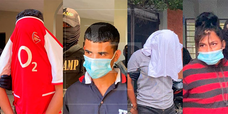 Capturan a 4 miembros de maras en diferentes sectores del país