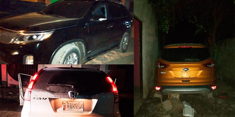 Recuperan tres vehículos con reporte de robo y capturan a dos hombres en SPS