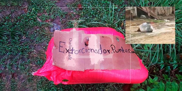 Encuentran dos cuerpos encostalados y con rótulos de 'extorsionador' en Tegucigalpa y SPS
