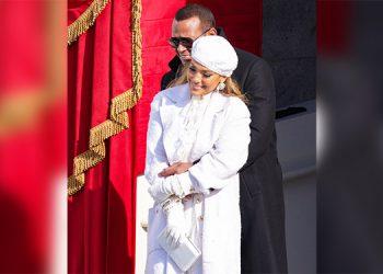 Así posaron Jennifer López y Alex Rodríguez tras la toma de posesión de Biden