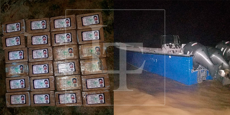 Incautan en La Mosquitia varios paquetes de droga con la imagen de Pablo Escobar