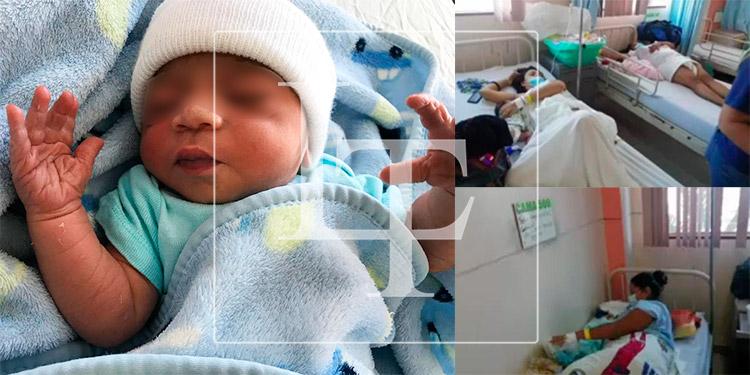 Primer nacido del 2021 en el HE es un varón; tres niñas en el Leonardo Martínez de SPS