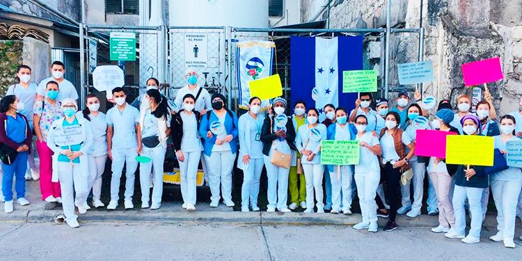 ANEEAH realiza protesta en varias zonas el país exigiendo la plaza permanente