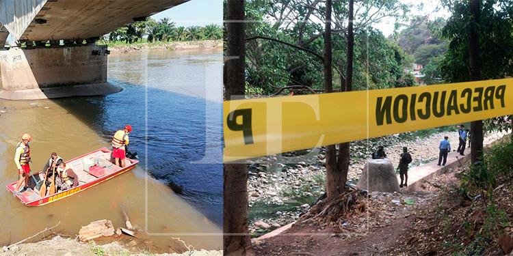 Hallan dos cuerpos flotando en ríos de diferentes sectores de Honduras