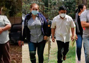 Los exempleados de la regional de Banadesa en Danlí, El Paraíso, y el comunicador Herlis Omar Aguilar fueron capturados por agentes de la ATIC.