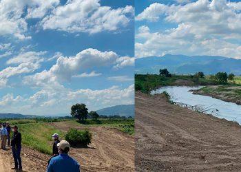 Con una inversión de 10 millones de lempiras se logró reconstruir 13 tramos de los bordos del Valle de Sula.