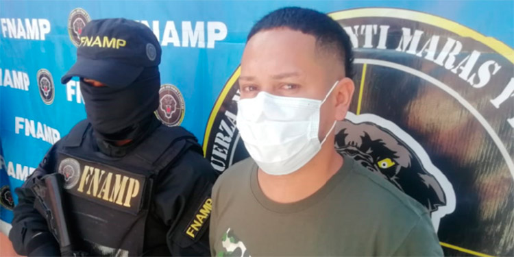 """Raúl Adalberto Díaz (32), alias """"Camaleón"""", fue capturado por el delito de extorsión."""