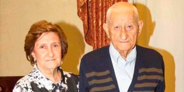 Don Camilo Jananía junto a su esposa, murió a los 94 años.