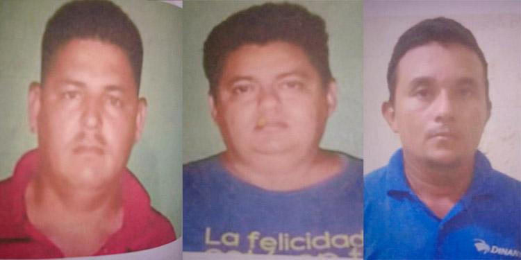 Wilmer José Matamoros Perdomo, Danys Omar Perdomo Ortiz y Juan Francisco García Rubio, cumplirán su condena en el centro penal de Nacaome, Valle.